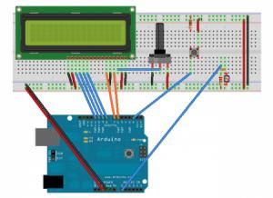LCD LDR Arduino Circuit